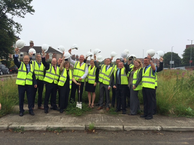 Celebrating the commencement of works at Cartergate.