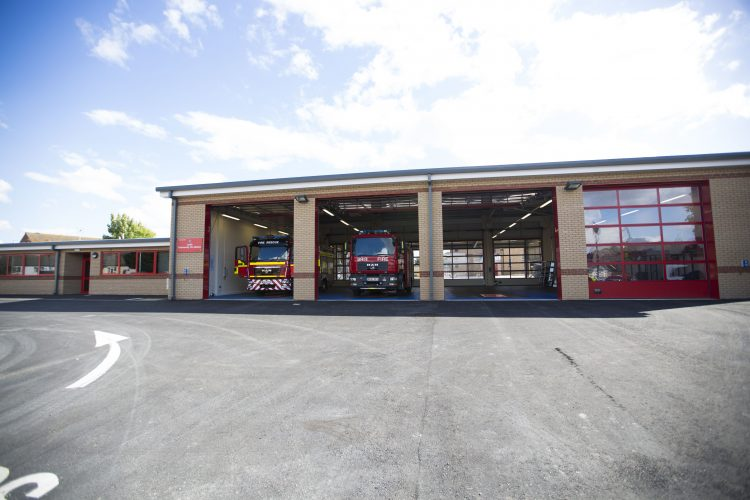 The completed Louth Fire Station project.