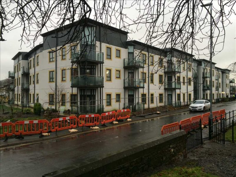 Flats at Cockermouth, stripped and dried in record time.