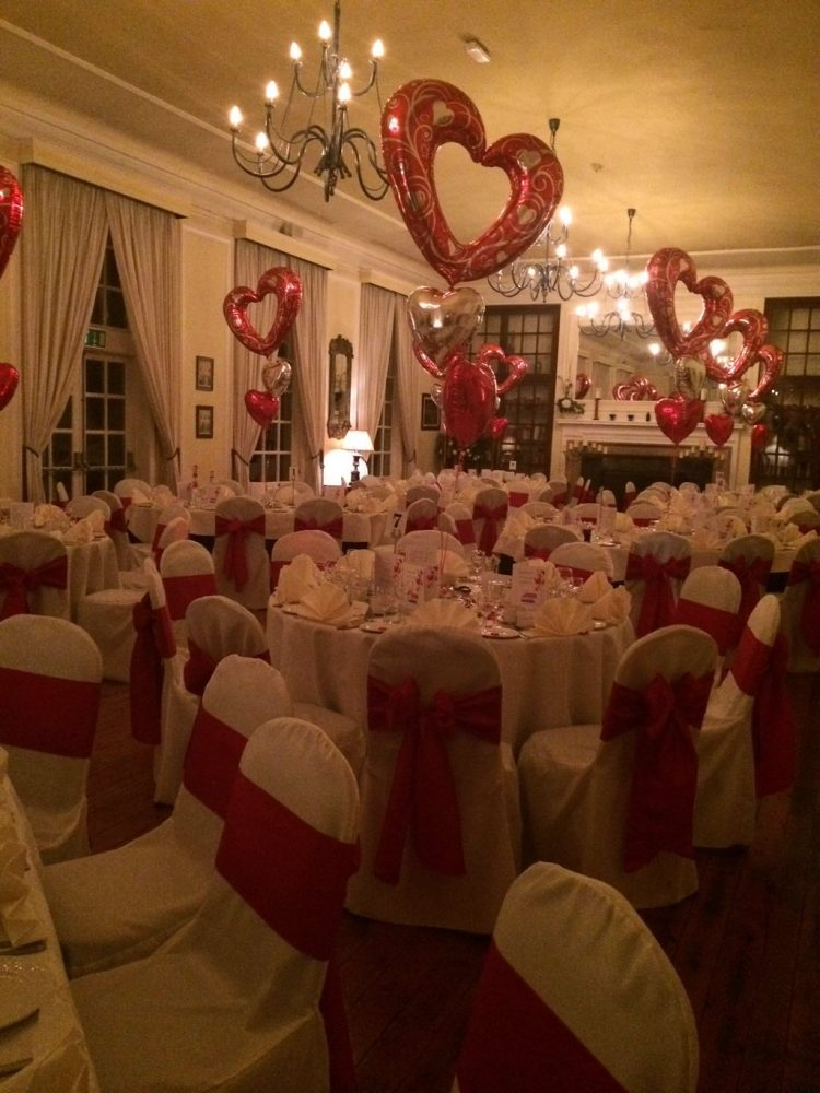 Charity Valentines Ball, ready for the guests.