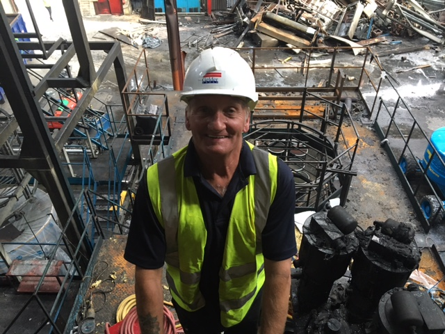 Keith Brazier on site at the factory.