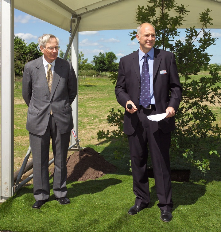 HRH the Duke of Gloucester and Steve Gelder.