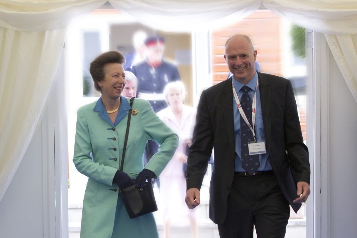 HRH The Princess Royal and Steve Gelder.