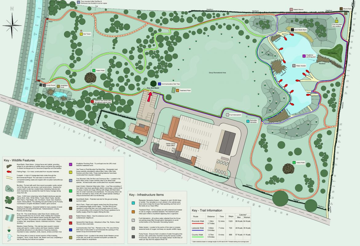 Map of the Gelder Environmental Park