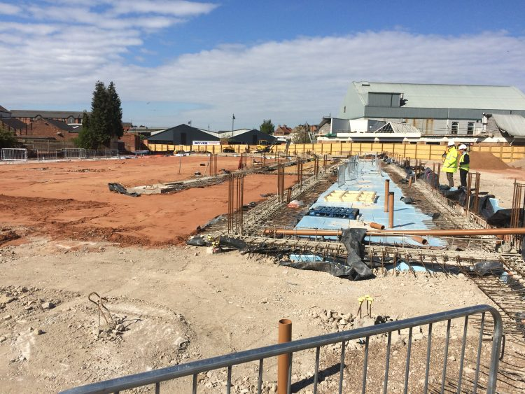 Foundations in place at Lidl in Gainsborough.