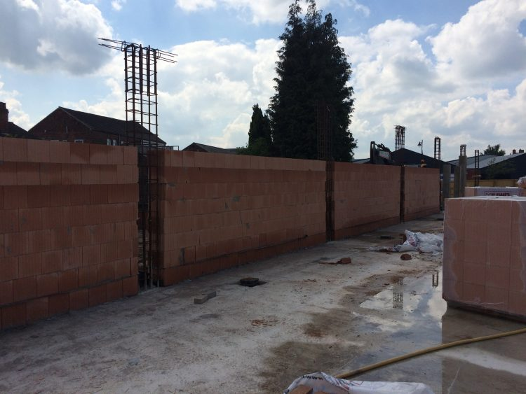 First walls being constructed at Lidl in Gainsborough.