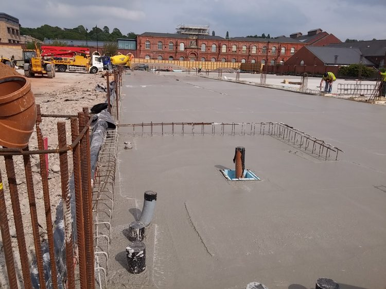 Concrete slab laid at Lidl in Gainsborough.