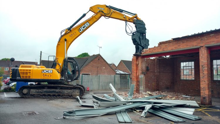 Demolition work begins on Newark Fire Station.