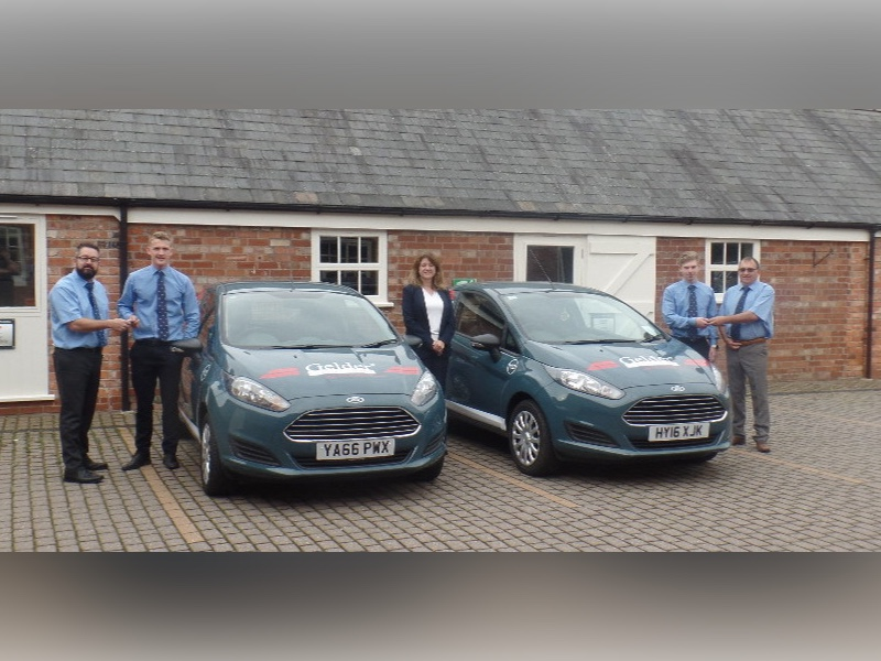 Apprentices with new vehicles