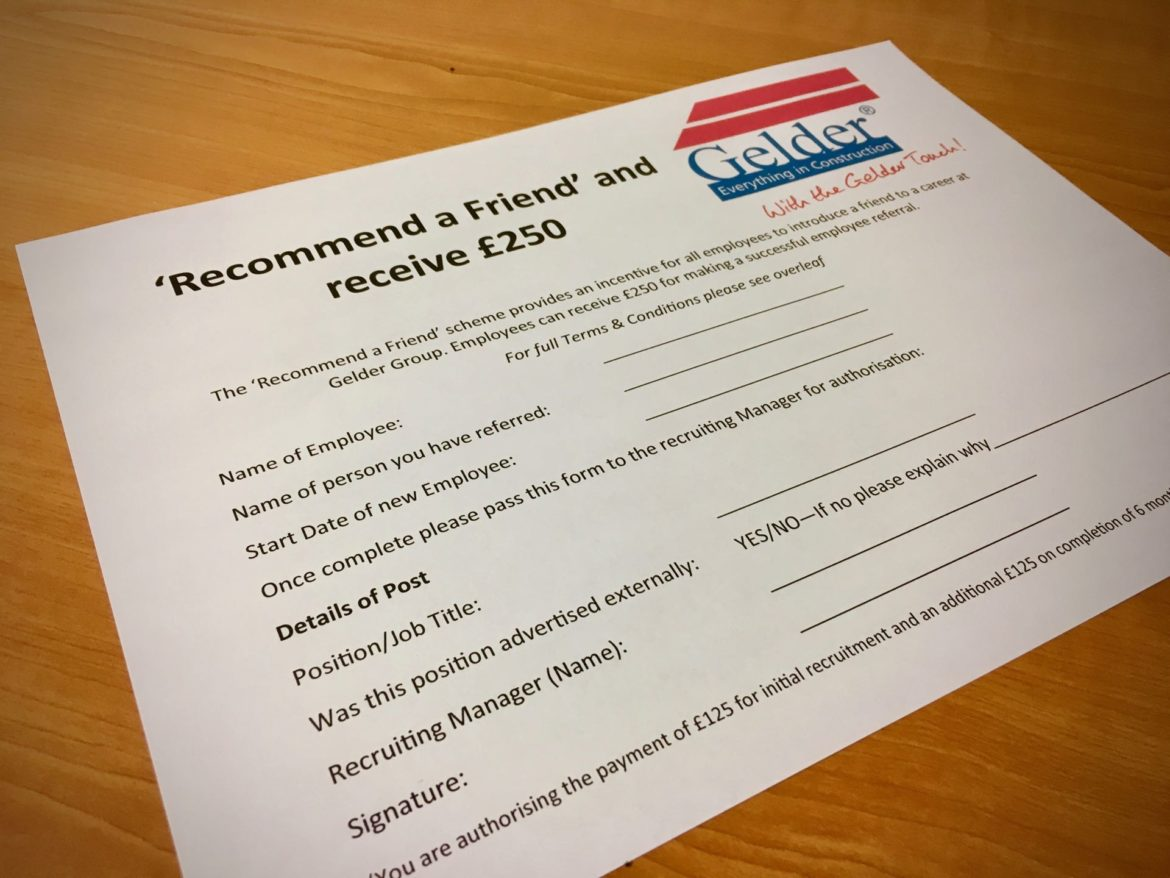 'Recommend a Friend' reward scheme.