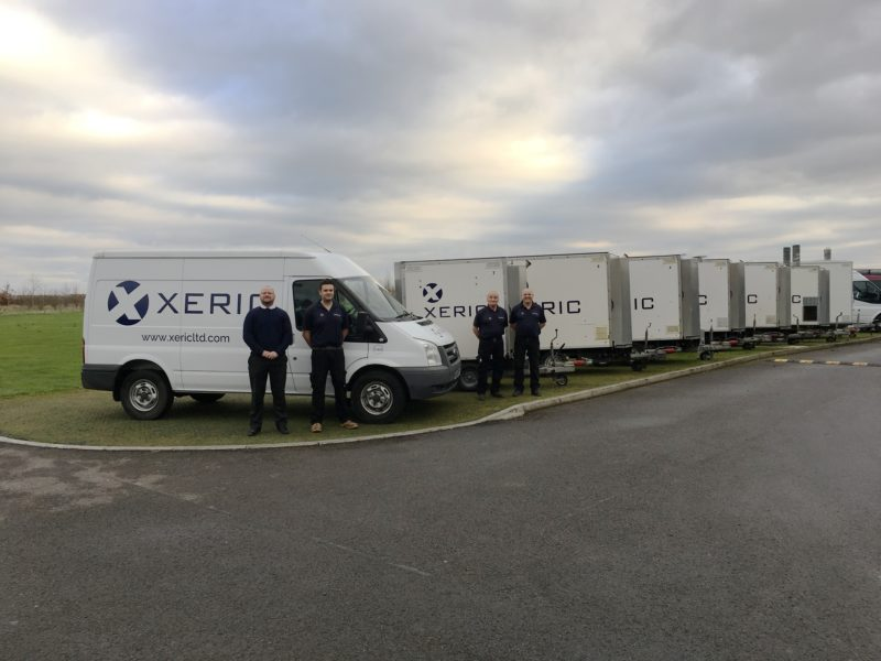 The Xeric fleet with new branded livery.