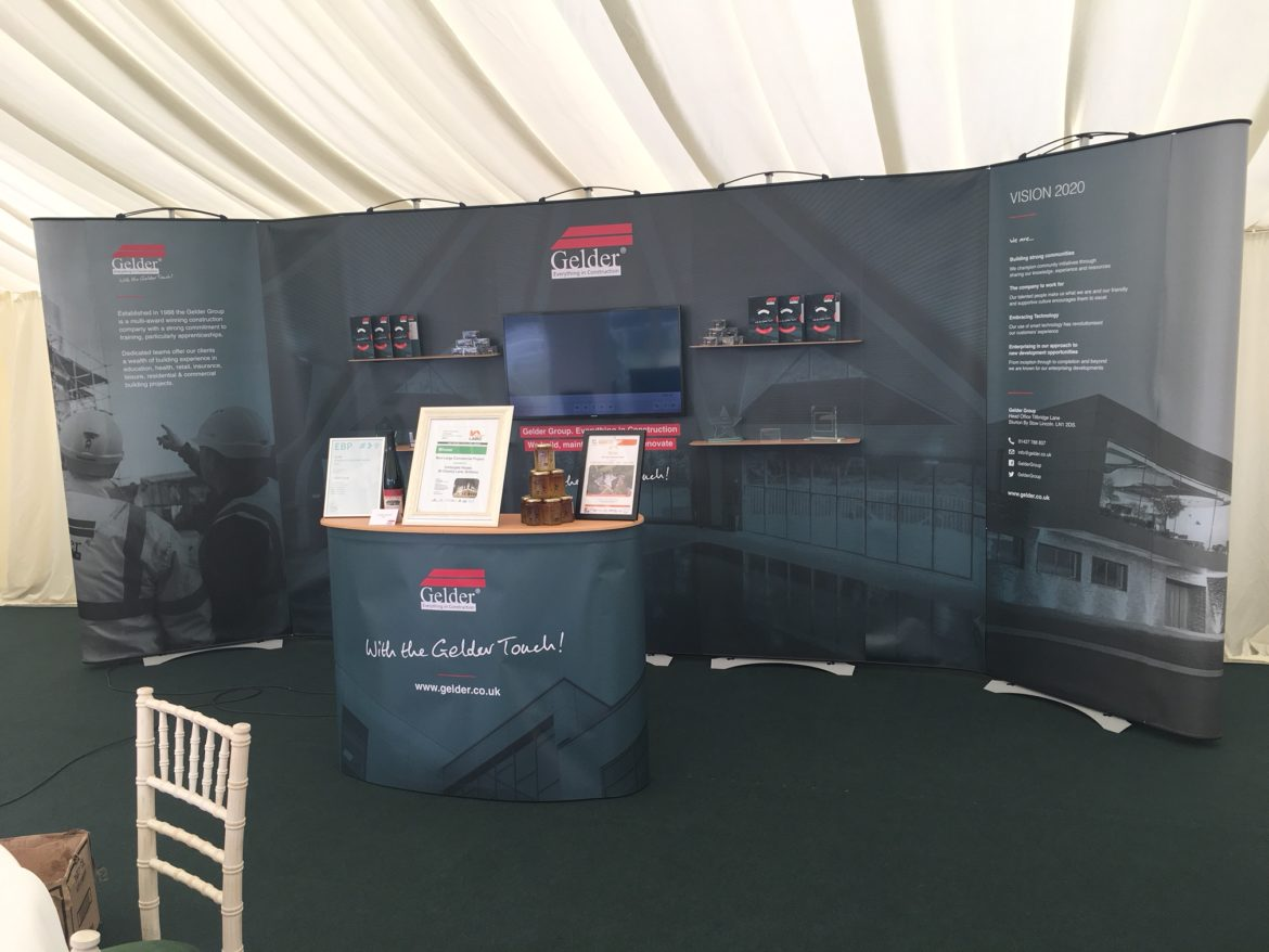 The Gelder Group stand at the Lincolnshire Show