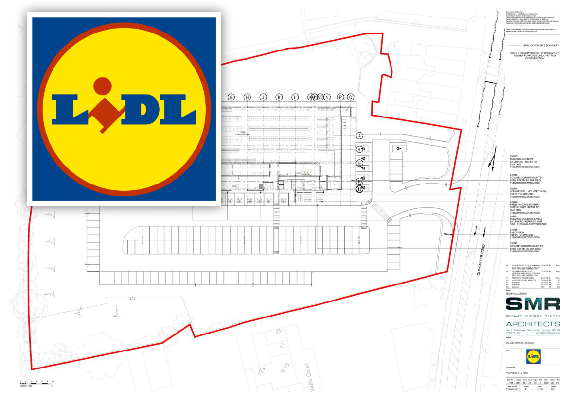 Site Plan for New Store in Dalton