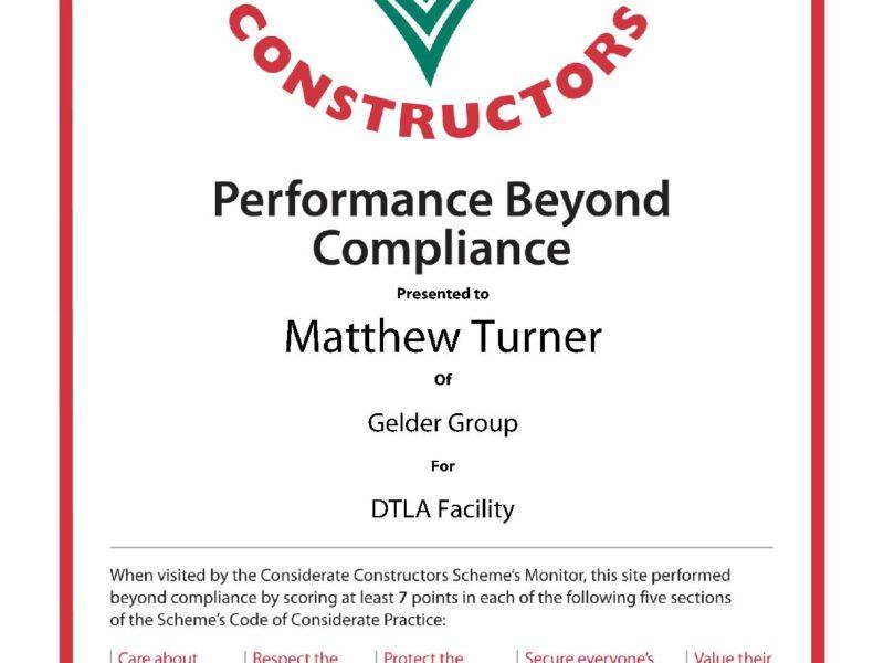 Performance Beyond Compliance